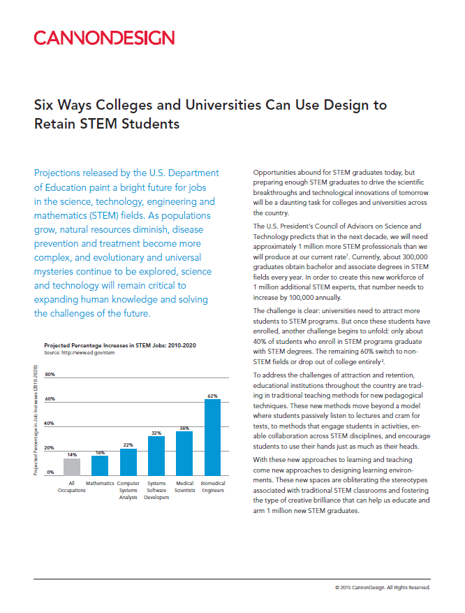6 Ways Colleges and Universities Can Use Design to Retain STEM Students